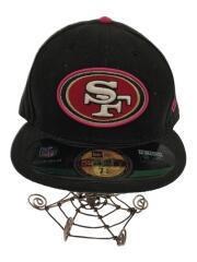 キャップ/7 5/8/コットン/BLK/NFL/49ers
