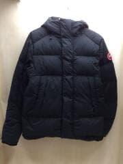 ダウンジャケット/M/ナイロン/BLK/無地/5076M