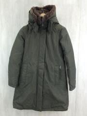 ロングダウンジャケット/XS/コットン/カーキ/162177/RAMAR CLOTH/ウールリッチ