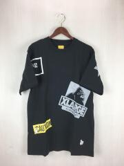 Tシャツ/M/コットン/ブラック/×X-LARGE/101203011041/エフアールツー