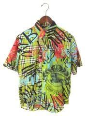 半袖シャツ/M/コットン/グリーン/チェック/8001275/バーバリー