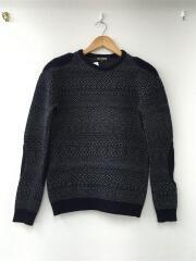 エルボーデザインセーター/48/ウール/ブラック/2005AW/HISTORY OF MY WORLD期/