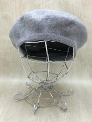 ベレー帽/--/ウール/GRY/無地