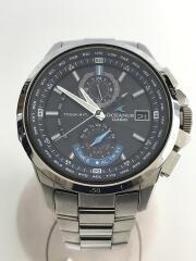 OCEANUS/ソーラー腕時計/OCW-T1010/ステンレス/BLK/SLV/電波 オシアナス アナログ クロノグラフ