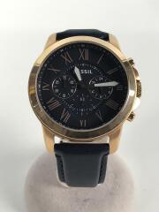 クォーツ腕時計/アナログ/レザー/NVY/NVY/FS4835IE