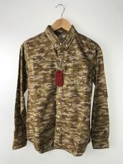 B.D Shirts/ボタンダウンシャツ/M/コットン/ブラウン/ウッドランドカモ