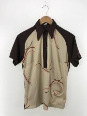 70~80sボーリングポロシャツ/38/ポリエステル