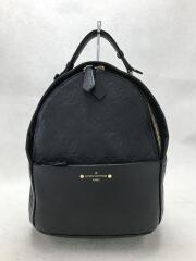 ソルボンヌ_モノグラムアンプラント/牛革/BLK