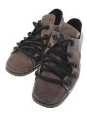 シューズ/1/ブラウン/レザー/革/ウッドソール/ローカット/靴/服飾/MADE IN JAPAN
