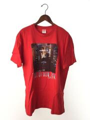 Tシャツ/L/コットン/レッド/19SS/カットソー/プリント/ロゴ/MADE IN USA/