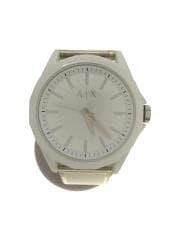 腕時計/アナログ/ラバー/ホワイト/クリーム/ロゴ/ウォッチ/服飾/AX2630/