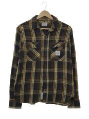 ネルシャツ/S/コットン/ブラウン/チェック