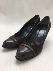 パンプス/UK5.5/24.0cm/ブラウン/スウェード/ヒール/500767/無地/クツ/靴/服飾