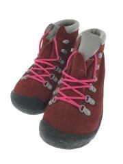 トレッキングブーツ/26cm/ボルドー/スウェード/5450-IRRD/刺繍ロゴ/服飾/クツ/靴