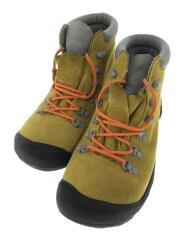 トレッキングブーツ/26cm/イエロー/スウェード/13063-SMGE/刺繍ロゴ/服飾/クツ/靴