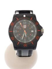 SERIES 8800/クォーツ腕時計/アナログ/ラバー/ブラック/黒