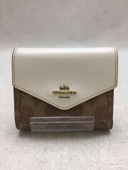3つ折り財布/PVC/BRW