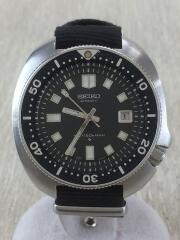 second diver/6105-8110/1974年製/腕時計/アナログ/キャンバス/BLK/BLK