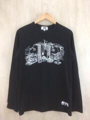 長袖Tシャツ/M/コットン/BLK/WT-T913/AD2017