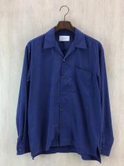 長袖シャツ/2/ポリエステル/BLU/10810015