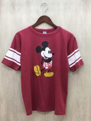 トリプルコラボ/ミッキー/フットボールT/Tシャツ/S/コットン/RED/C8-D332