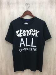 Print Tee/Tシャツ/2/コットン/BLK/UC3805/タグ付き