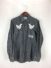 ×H.OKAMOTOMcHILL OVERALLS CLOTHING/長袖シャツ/コットン/GRY