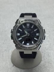 クォーツ腕時計/デジアナ/GRY/BLK