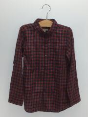 長袖シャツ/140cm/コットン/RED/チェック