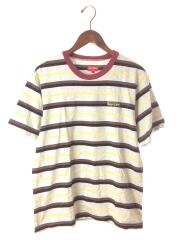 Tシャツ/S/コットン/GRY/ボーダー