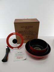 フライパン/サイズ:26cm/5点セット/RED/ダイヤモンドチタニウム