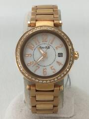 RubinRosa/ソーラー腕時計/アナログ/ステンレス/WHT/GLD/