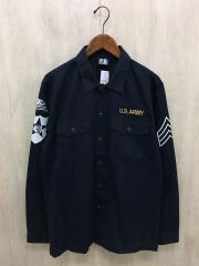 ミリタリーシャツ/U.S.ARMY/L/コットン/NVY/6155176