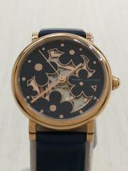 クォーツ腕時計/Classic/アナログ/レザー/NVY/MJ1628