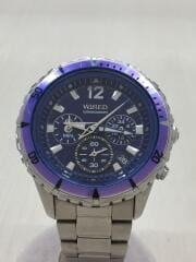 クォーツ腕時計/CHRONOGRAPH/VK63-K270/アナログ/ステンレス/BLU/SLV/