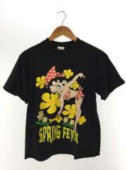Tシャツ/1/コットン/ブラック/プリント