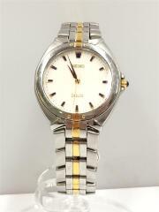 5E31-6F10/クォーツ腕時計/アナログ/ホワイト/シルバー