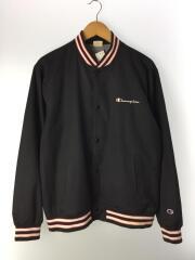 リブラインスナップジャケット/XL/ポリエステル/BLK/C8-N614R