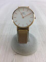 Classic/クォーツ腕時計/アナログ/WHT/GLD/B28R01