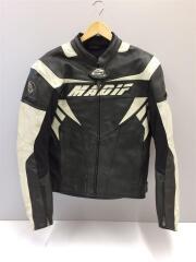 MADIF/レーシングジャケット/レザージャケット・ブルゾン/52/レザー/ブラック