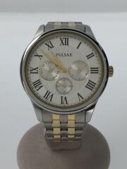 クォーツ腕時計/アナログ/ステンレス/VD75-X068