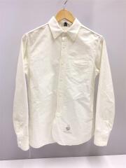 長袖シャツ/M/コットン/ホワイト/ボタンダウンシャツ