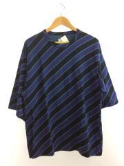 Tシャツ/BIAS STRIPE BIG-T/1/コットン/パープル
