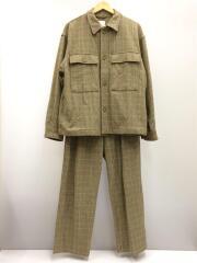 20AW/CPOシャツジャケット/ワイドテーパードパンツ/セットアップ/M/コットン/チェック