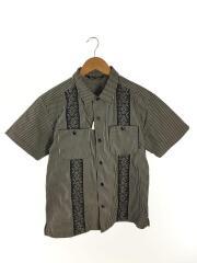 半袖シャツ/L/コットン/IDG/ストライプ/キューバシャツ/ヒッコリー