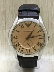 クォーツ腕時計/アナログ/レザー/GLD/BRW/AR-1704/エンポリオアルマーニ