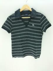 Vネック鹿の子ポロシャツ/1/コットン/BLK/バーバリーロンドン
