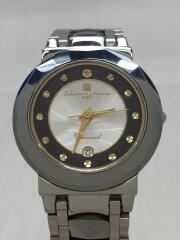【未使用】超硬タングステン&天然ダイヤ シェル文字盤クォーツ腕時計
