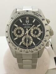 クォーツ腕時計/アナログ/ステンレス/BLK/DM-2051