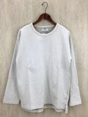 PLESIC/長袖Tシャツ/L/コットン/IVO/AK190930